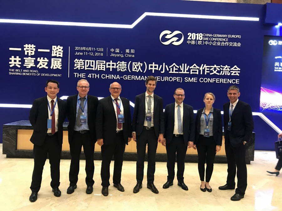 4th German (European) – Chinese SME conference (Jienyang, June 11-13, 2018) with following delegation tour to Guangzhou/Huadu and Nansha